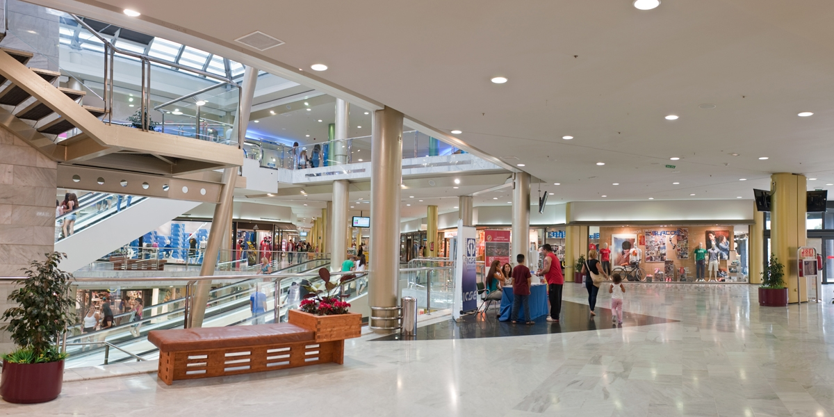 Winkelcentrum Las Arenas dichtbij Puerto de la Cruz in Las Palmas op GRan Canaria
